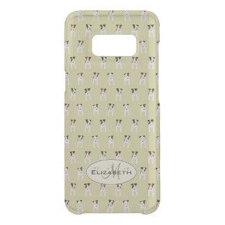 Capa Para Samsung Galaxy S8 Da Uncommon ouro minúsculo do monograma de russell do jaque do