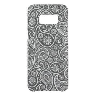Capa Para Samsung Galaxy S8 Da Uncommon Preto & e teste padrão branco de paisley do