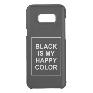 CAPA PARA SAMSUNG GALAXY S8+ DA UNCOMMON SKAM - BLACK IS MY HAPPY COLOR