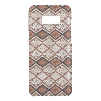 Capa Para Samsung Galaxy S8+ Da Uncommon Teste padrão abstrato da Cobra-Pele em Brown & em
