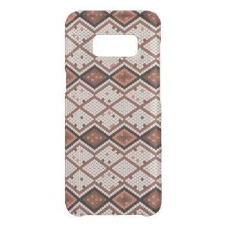 Capa Para Samsung Galaxy S8 Da Uncommon Teste padrão abstrato de SnakeSkin em Brown & em