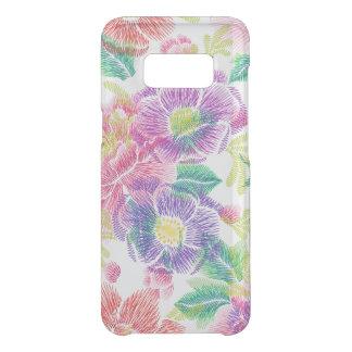 Capa Para Samsung Galaxy S8 Da Uncommon Teste padrão de flores tropical colorido exótico
