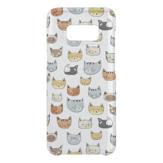 Capa Para Samsung Galaxy S8 Da Uncommon Teste padrão do Doodle da cara do gato