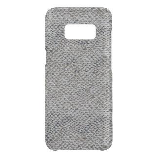 Capa Para Samsung Galaxy S8 Da Uncommon Teste padrão do preto e da pele de cobra de Brown