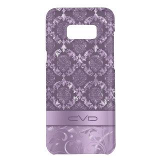 Capa Para Samsung Galaxy S8+ Da Uncommon Teste padrão floral roxo metálico elegante do laço