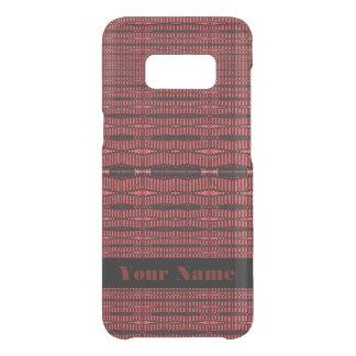 Capa Para Samsung Galaxy S8 Da Uncommon Teste padrão moderno preto vermelho