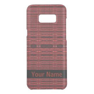 Capa Para Samsung Galaxy S8+ Da Uncommon Teste padrão moderno preto vermelho