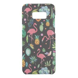Capa Para Samsung Galaxy S8+ Da Uncommon Teste padrão tropical colorido das flores & dos