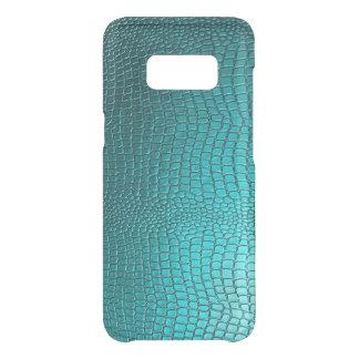 Capa Para Samsung Galaxy S8 Da Uncommon Textura da pele de cobra do falso do azul de