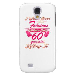 Capa Samsung Galaxy S4 60th T fabuloso do presente da festa de