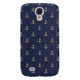 Capa Samsung Galaxy S4 Âncora náutica dos azuis marinhos