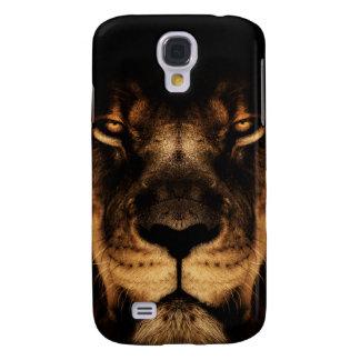 Capa Samsung Galaxy S4 Arte africana da cara do leão