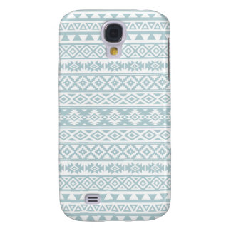 Capa Samsung Galaxy S4 Azul estilizado asteca & branco do ovo do pato do