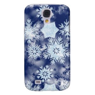 Capa Samsung Galaxy S4 Azul gelado dos flocos de neve do inverno