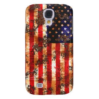 Capa Samsung Galaxy S4 Bandeira americana oxidada resistida