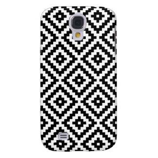 Capa Samsung Galaxy S4 Bloco asteca Ptn do símbolo preto & branco mim