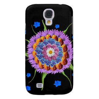 Capa Samsung Galaxy S4 Colagem da flor da mandala