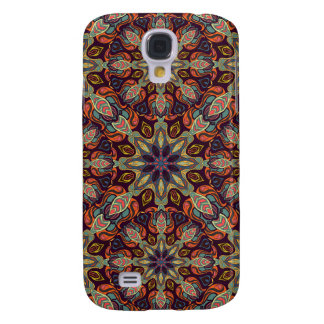 Capa Samsung Galaxy S4 Design floral do teste padrão do abstrato da