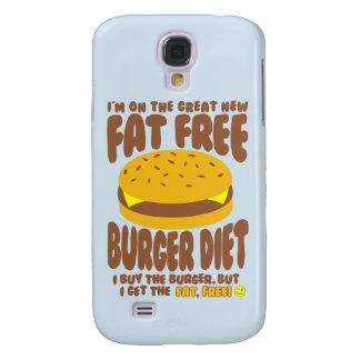 Capa Samsung Galaxy S4 Dieta livre de gordura do hamburguer