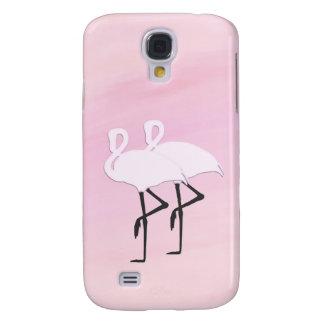 Capa Samsung Galaxy S4 Flamingos cor-de-rosa