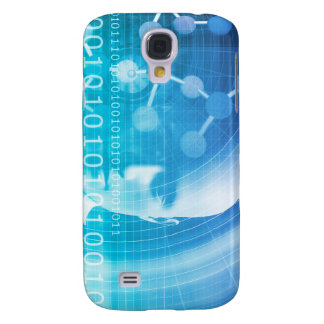Capa Samsung Galaxy S4 Fundo da molécula como um conceito do abstrato da