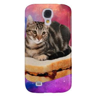 Capa Samsung Galaxy S4 gato do pão - gato do espaço - gatos no espaço