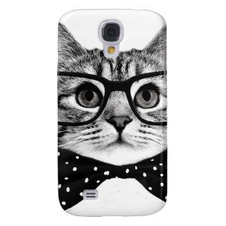 Capa Samsung Galaxy S4 laço do gato - gato dos vidros - gato de vidro