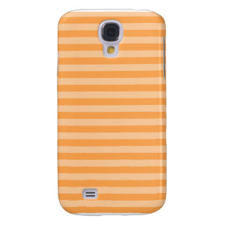 Capa Samsung Galaxy S4 Listras finas - alaranjadas e claras - laranja