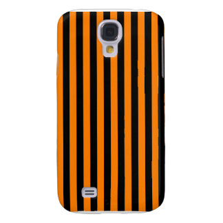 Capa Samsung Galaxy S4 Listras finas - preto e laranja