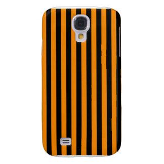 Capa Samsung Galaxy S4 Listras finas - preto e tangerina