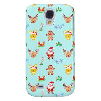 Capa Samsung Galaxy S4 O papai noel, a rena, o coelho e o biscoito
