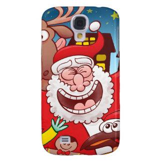 Capa Samsung Galaxy S4 Papai Noel e sua equipe estão prontos para o Natal