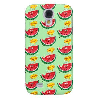 Capa Samsung Galaxy S4 Parte de melancia que expressa a dor após uma