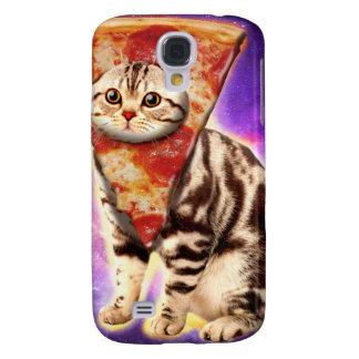 Capa Samsung Galaxy S4 Pizza do gato - espaço do gato - memes do gato