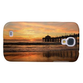 Capa Samsung Galaxy S4 Por do sol da praia do cais