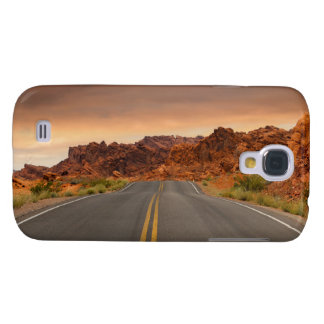 Capa Samsung Galaxy S4 Por do sol da viagem por estrada