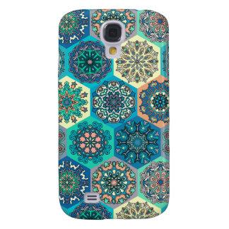 Capa Samsung Galaxy S4 Retalhos do vintage com elementos florais da