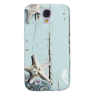 Capa Samsung Galaxy S4 Seashells azuis da estrela do mar do aqua de