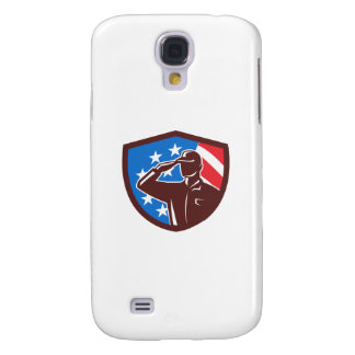 Capa Samsung Galaxy S4 Soldado americano que sauda a crista da bandeira