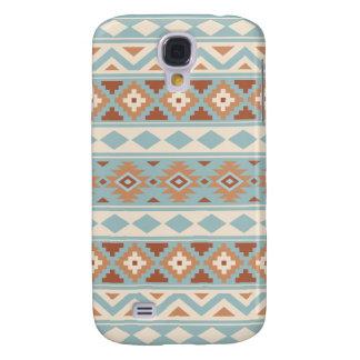 Capa Samsung Galaxy S4 Terracottas de creme azuis astecas de Ptn IIIb da