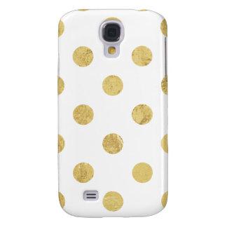 Capa Samsung Galaxy S4 Teste padrão de bolinhas elegante da folha de ouro