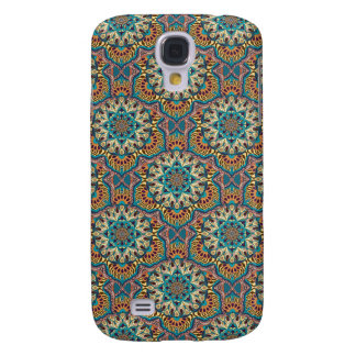 Capa Samsung Galaxy S4 Teste padrão floral étnico abstrato colorido da