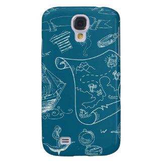 Capa Samsung Galaxy S4 Teste padrão gráfico náutico do modelo