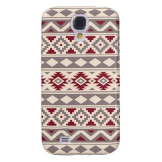 Capa Samsung Galaxy S4 Vermelho de creme do Taupe de IIIb do teste padrão