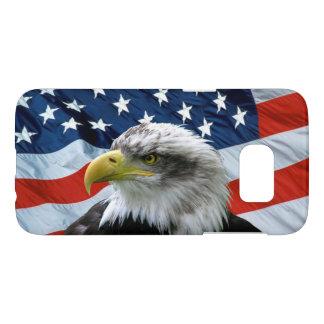 Capa Samsung Galaxy S7 Bandeira americana da águia americana