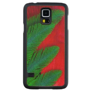 Capa Slim De Bordo Para Galaxy S5 Abstrato vermelho e verde da pena