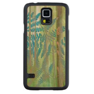 Capa Slim De Bordo Para Galaxy S5 Colagem das samambaias da samambaia e da floresta