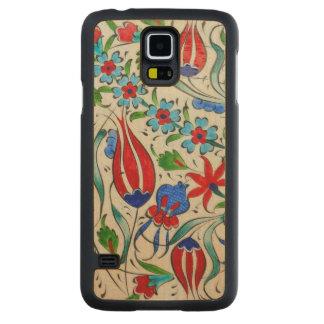 Capa Slim De Bordo Para Galaxy S5 Design floral turco