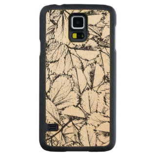 Capa Slim De Bordo Para Galaxy S5 Folhas do branco