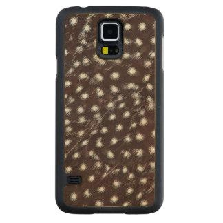 Capa Slim De Bordo Para Galaxy S5 Guineafowl manchou o abstrato da pena